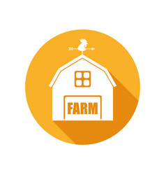 emblem with farm house vector image