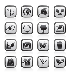 Environment and Conservation icons vector image vector image