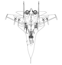 Fighter plane concept vector