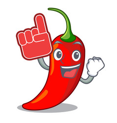 foam finger red chili pepper isolated on mascot vector image