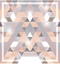 Geometric shining pattern with triangles vector image