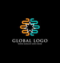 global logo inspirations internet logo template vector image