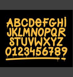 graffiti tag style alphabet vector image