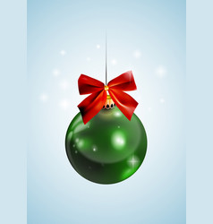 graphic realistic shiny new year christmas ball vector image