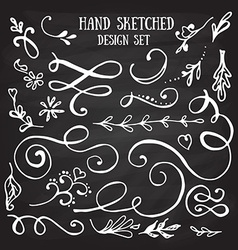 Hand drawn set of vintage elements vector image vector image