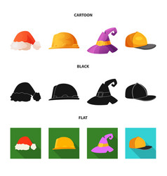 Headgear and cap sign set vector