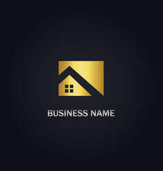 home realty gold logo vector image