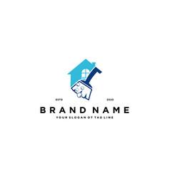 House cleaner logo design vector