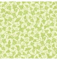 Ivy plants seamless pattern background vector