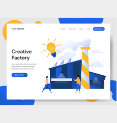 Landing page template creative factory vector