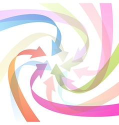 Light Abstract Colorful Arrows Background vector