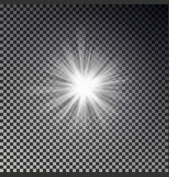 light sun rays vector image