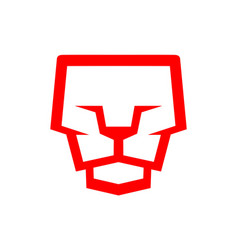 lion face logo graphic icon vector image