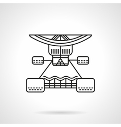 Longboard services flat line icon vector