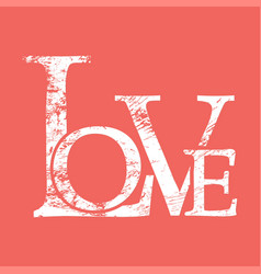 love print background vector image