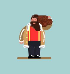 lumberjack bears wood vector image