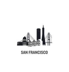 Made with icons san francisco vector