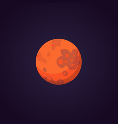 mars red planet in solar system vector image