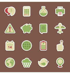 media stickers vector image