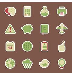 Media stickers vector