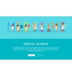 Medicine Banner Science Alphabet vector image