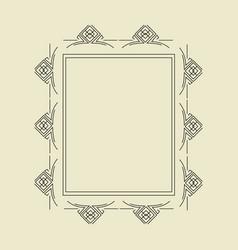 ornament decorative frame 05 vector image