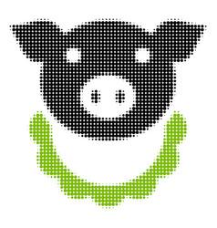 Pig reward halftone icon vector