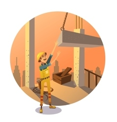 Retro construction cartoon vector image