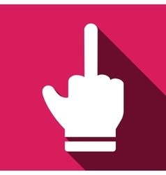 Rude hand sign icon vector