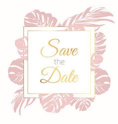 save the date border frame card template exotic vector image