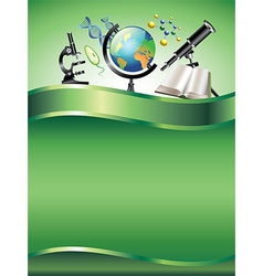 Science vertical background vector