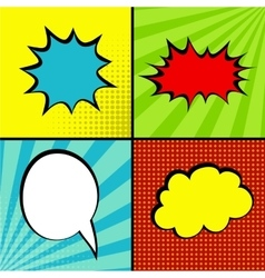 Set comic sound effects pop art vector