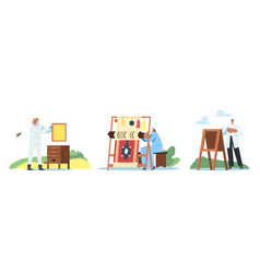 set creative artistic hobbies theme male vector image