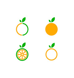 set of orange logo design icon design vector image