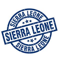 sierra leone blue round grunge stamp vector image