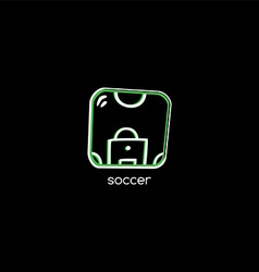 Soccer field theme logotype vector
