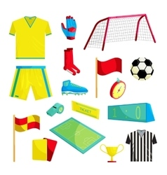 Soccer Icons set cartoon style vector image
