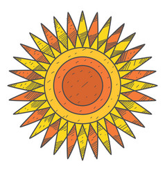 Stylized sun disk with sharp rays vector
