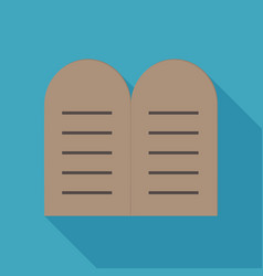 Tablets law icon in flat long shadow design vector