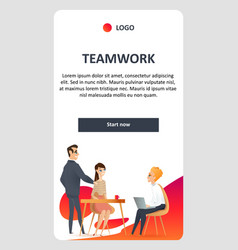 Teamwork in modern coworking shared open space vector