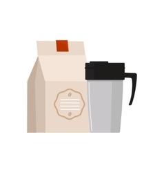 Travel Coffee Mug Simplified vector image vector image