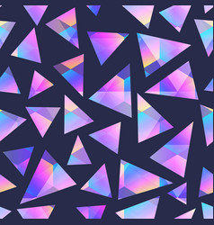 triangle holographic geometric seamless pattern vector image