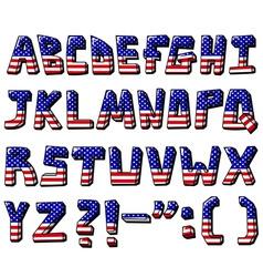 usa alphabet vector image