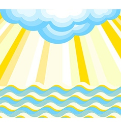 Waves rays and cloud vector