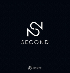 White letter s and double number 2 logo concept vector