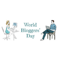 World bloggers day vector