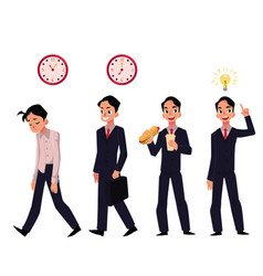 young businessman employee in various business vector image