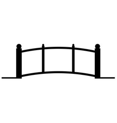 bridge the black color icon vector image vector image