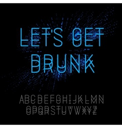 Neon party alphabet vector image vector image