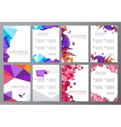 set of flyers brochures abstract design 2 vector image vector image